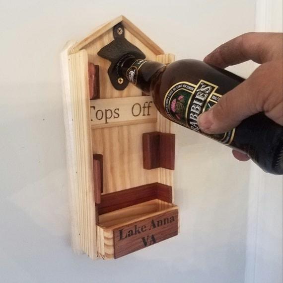 custom pontoon boat bottle opener with whatever you want burnt. Black Bedroom Furniture Sets. Home Design Ideas