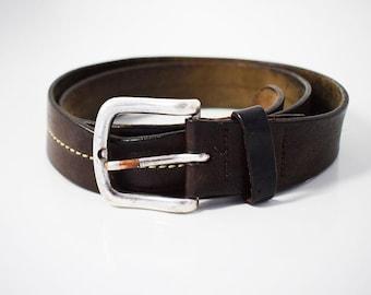 Vintage Mens Leather Belt Brown