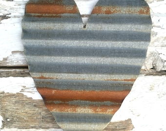 Rustic Corrugated Metal Heart - Rustic Home Decor - Valentines Day Decor - Rustic Wall Hanging - Corrugated Metal Decor - Rustic Sign