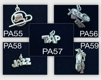 Jazz and Tap Dance Charms