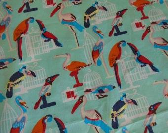 Birds, birds, birds, cotton fabric