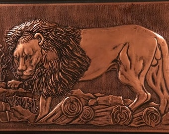Copper Wall Art - Lion