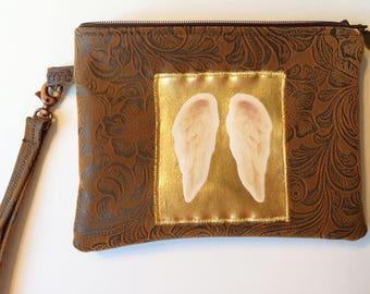 Tarot Card Bag - Oracle Deck Bag -  Angel Card Bag - Tarot Bag - Tarot Card Pouch - Zippered - Handcrafted with Padding and Lanyard