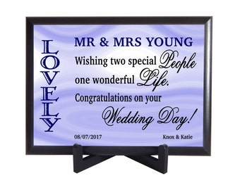 Gift for the Couple on their Wedding,Custom Wedding Couple Gift,Mr and Mrs Gifts, Personalized Gift to both Bride and Groom,New Weds,PHW001