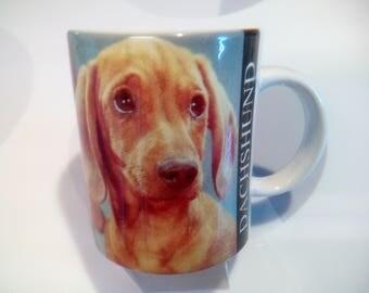 Vintage 1992 Dachshund Coffee Mug by Xpres Corp/Walter Chandoha