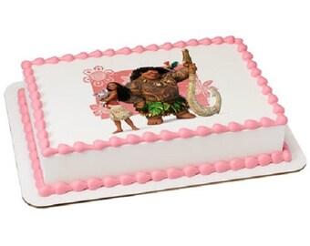 Moana Cake Edible We Know the Way Birthday Cake Edible Image Decoration