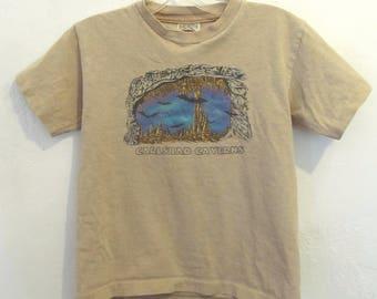 A Kids Vintage 90's,Cute Short Sleeve,CARLSBAD CAVERNS T shirt By Prairie Mountain.M-10