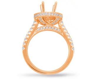 8mm Round Forever One Moissanite & Diamond Side Halo Engagement Ring 14k White, Rose, or Yellow Gold, 2 carat Moissanite Wedding Rings