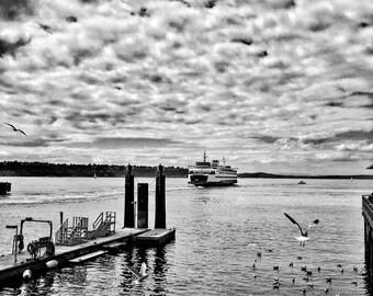 Seattle Days (Ferry), Seattle Ferry Fine Art Print, Seattle Photography