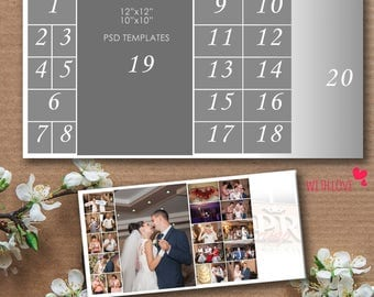 12x12, 10x10 Story Board Template, Photoshop, psd files - INSTANT Download - T8