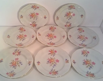 Set of 8 Farolina Salad Plates Made in Poland