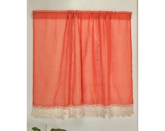 Lace cafe curtains | Etsy