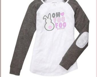 Women's Easter Shirt ~ Bunny Shirt ~ Custom Easter Shirt ~ Bunny Foo Foo