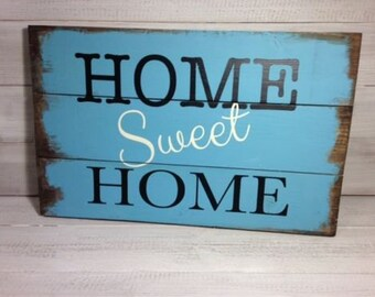 FREE UK DELIVERY - Home Sweet Home - Wooden Plank Sign