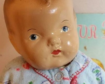 1940's Composition Baby Doll Original Clothing