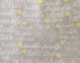 Personalized Minky Baby Blanket, Twinkle Twinkle Little Star Grey and Pink Minky Baby Blanket