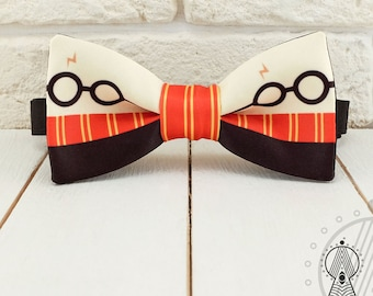 Harry Potter Bow Tie, Gryffindor bowtie, Red and black bowtie, Geek, Men's bow tie, Women's bow tie, Children's bow tie