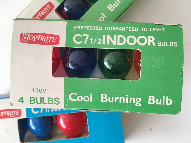 sold by tuxedosally - Vintage Christmas Light Bulbs