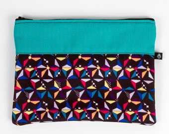 Bag 15 x 20 cm pattern Kazaguruma manufactured in France and hand