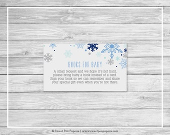 Winter Baby Shower Book Instead of Card Insert - Printable Baby Shower Books for Baby - Baby It's Cold Outside - Books for Baby - SP144
