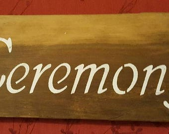 Custom made Wedding (or any occassion) directional signs - made to order in your choice of font and design