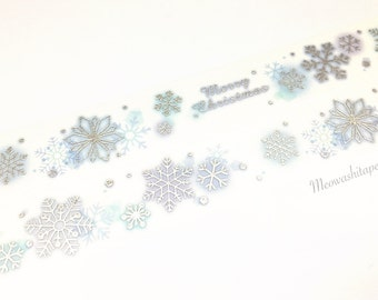 Sliver foil snowflakes washi tape (T00859)