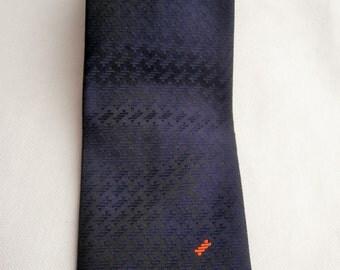 Vintage Tie, Mens Necktie, FREE SHIPPING, Mens tie, Black necktie, Vintage Mens Neckties, Solid necktie