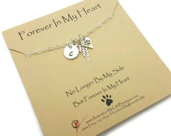 Personalized Pet, Pet Memorial, Pet Memorial Jewelry, Pet Loss, Personalized Sterling Silver Pet Memorial Necklace, Loss of Pet