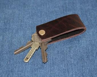 Personalized KeyChain, Genuine Leather Key Holder, Genuine Leather Key Chain, Genuine Leather Key Organizer. Keychain with the screw.