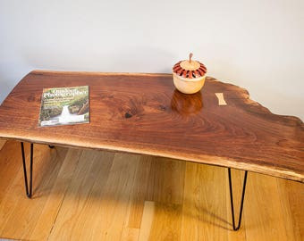 Natural Edge Black Walnut Coffee Table