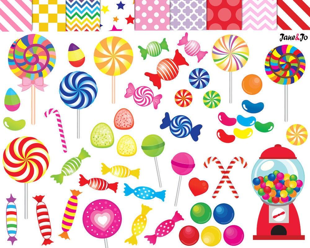 52 Candy clipart,candy clip art,printable,lollipop clipart,rainbow ...