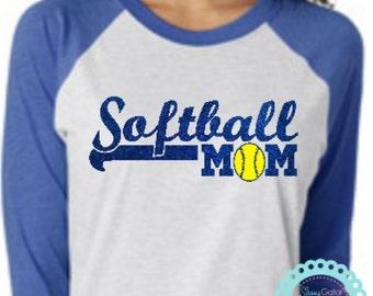 Softball, SOFTBALL MOM, Softball Mom Shirts, Softball Shirts, Softball TShirts, SoftBall Team Shirt, Softball Team Gifts, Mom Softball Shirt