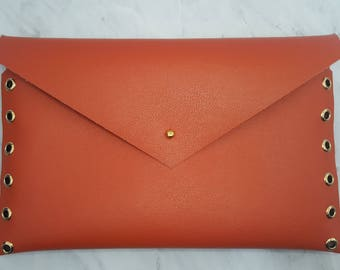 Orange Envelope Clutch