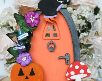 Halloween Inspired Witch Door - Halloween Decorations -