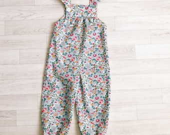 RUBY Handmade Liberty of London Print Girls Dungarees Baby Tana Lawn