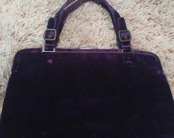 AUTHENTIC  & VINTAGE Prada Purple Velvet Handbag