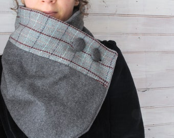 Neck warmer, winter scarf, women scarf, upcycled clothing, zel ecodesign