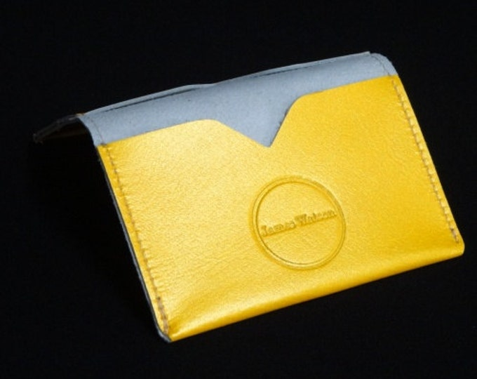 Bantam Wallet - Gold - Kangaroo leather with RFID Credit Card Blocking - James Watson