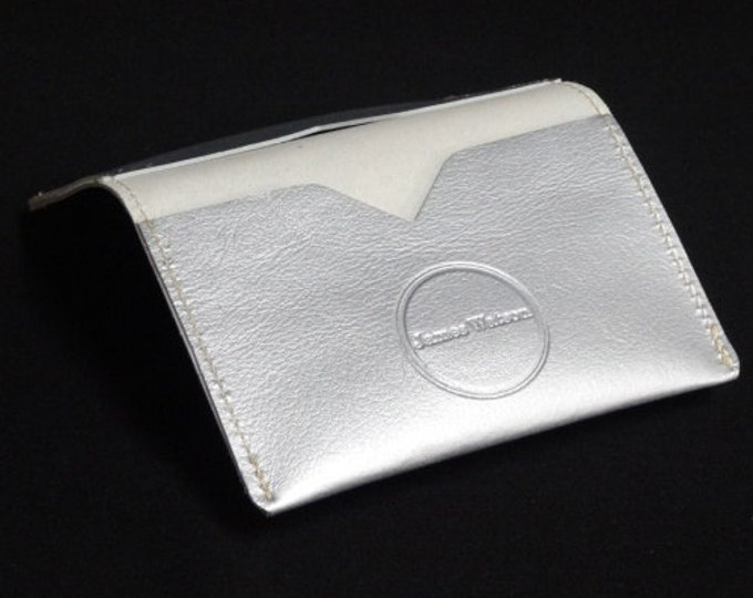Bantam Wallet - Silver - Kangaroo leather with RFID Credit Card Blocking - James Watson