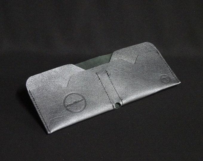 Bantam Note Wallet - Gunmetal - Kangaroo leather with RFID Credit Card Blocking - Handmade - James Watson