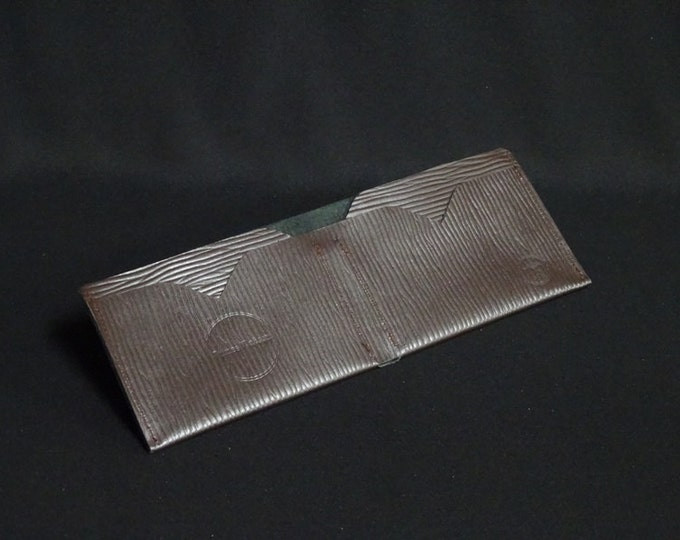 Bantam Note Wallet - Brown Ripple - Kangaroo leather with RFID Credit Card Blocking - Handmade - James Watson