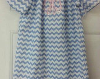 Peasant dress, monogrammed, girls clothing, summer dress