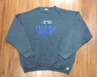 Vintage orlando magic sweater mens xl 90s logo 7 nba