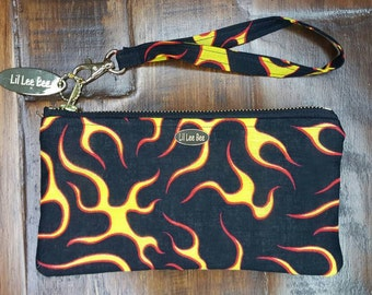 Hot Rod Wristlet, Large cell phone wallet, iPhone plus wallet, Larger wristlet