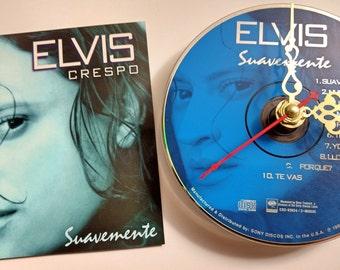 CD Clock Elvis Crespo Suavemente Handmade Clock FREE U.S. SHIPPING