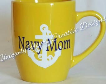 Navy Mom Mug, Navy Dad Mug, Navy Mom Gift, Navy Dad Gift, Gifts for Her, Gifts for Him, Gifts for Wife, Anchor Coffee Mug, Navy Anchor Mug