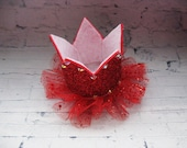 Valentines day crown Red toddler tiara Birthday crown Best ideas gifts Glitter tiara Headbands for baby Fashion jewelry Girls hair piece