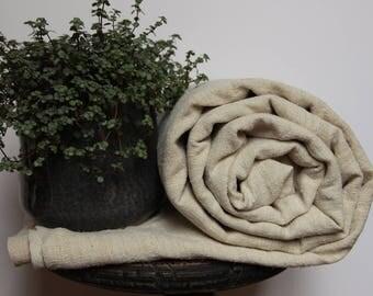 French Antique Homespun Hemp Bedsheet