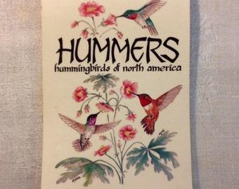 Hummers - Hummingbirds of North America Illustrated Book 1987 Johnson Books Boulder
