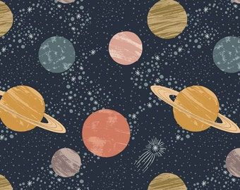 Galaxy fabric cotton etsy for Nebula fabric by the yard